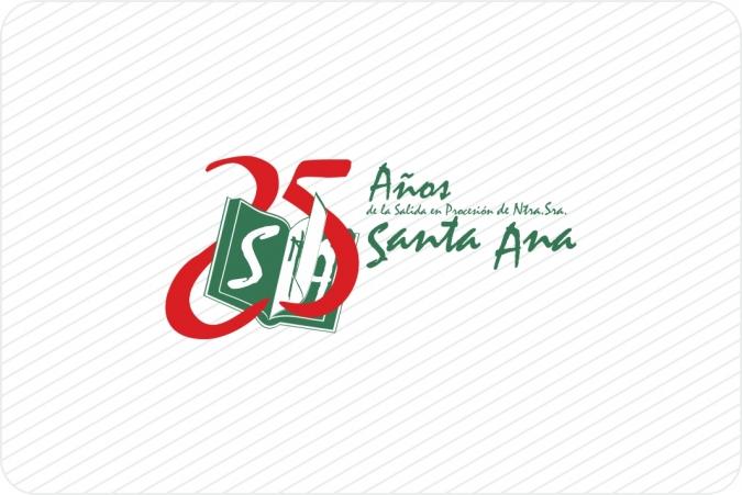 Logotipo 25 Años Asociación Santa Ana en Nerva