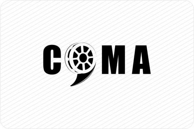 Logotipo certamen cortos Nerva (COMA)