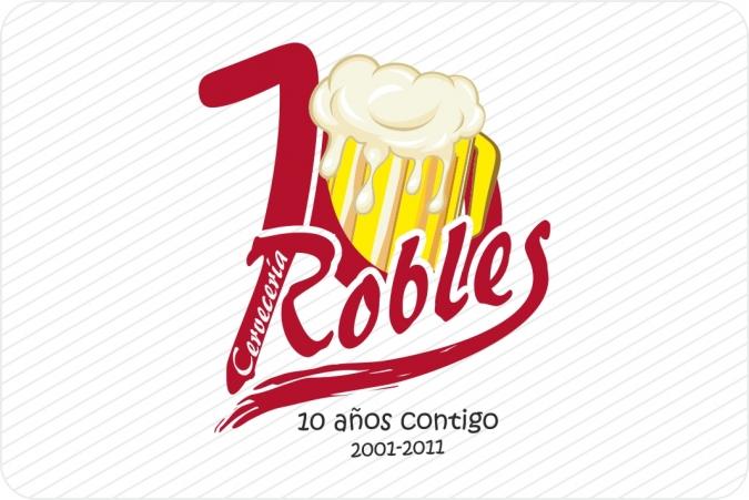 Logotipo Aniversario Robles Cervecería